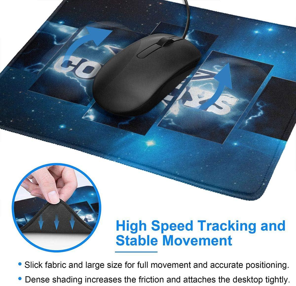 4 Sizes Computer /& PC Dallas-Cowboys Premium-Textured Mouse Pad with Stitched Edge Non-Slip Rubber Base Mousepad for Laptop