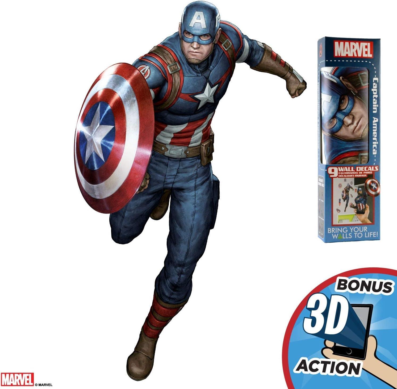 Amazon Com Decalcomania Marvel Captain America 17 X 27 Wall