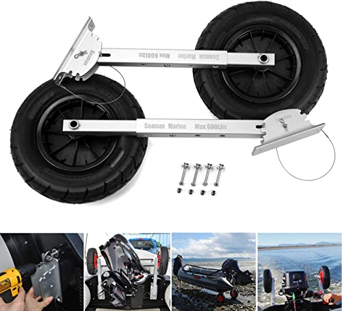 Reinforced Boat Launching Dolly Wheels System for Inflatable and Aluminum Boat [Seamax] Picture