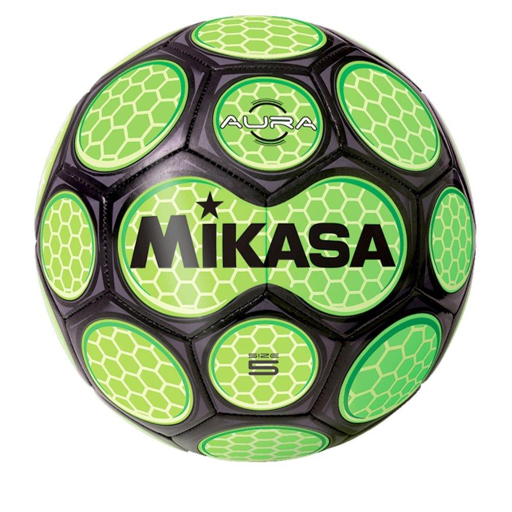 Balón de fútbol por Mikasa Sports - Aura tamaño 5, Negro/Neon ...
