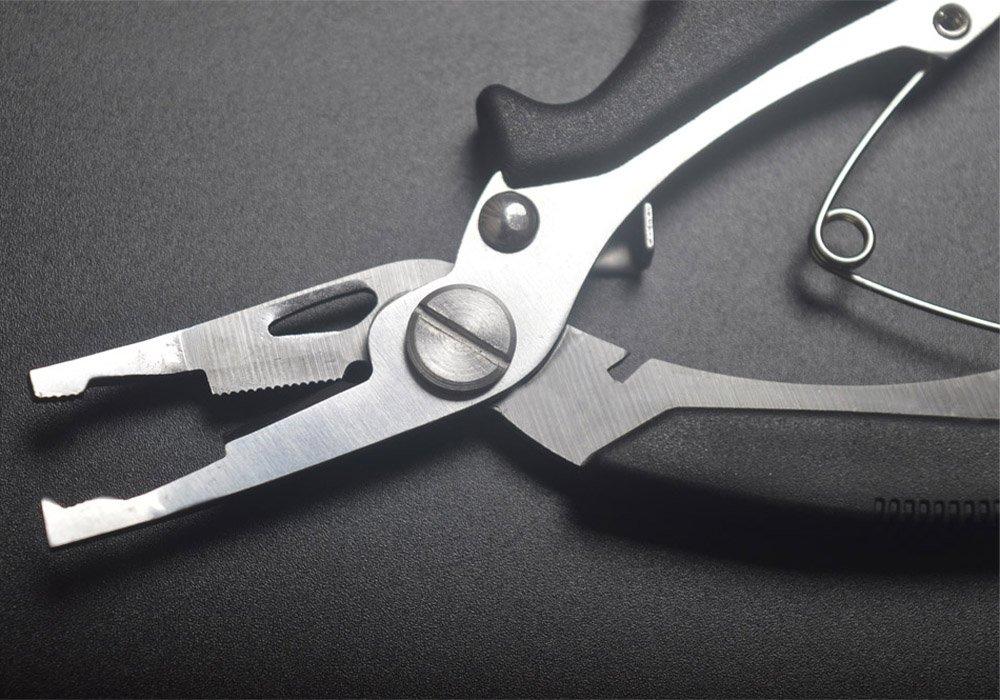 Lixada Alicates de Pesca Portable y Controlador de Peces Multifuncional Acero Inoxidable Marcado con Escala de Peso,13cm