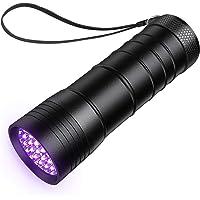 TechRise - Linterna ultravioleta con 12 ledes y luz UV para perros, gatos y orina, con linterna ultravioleta para…