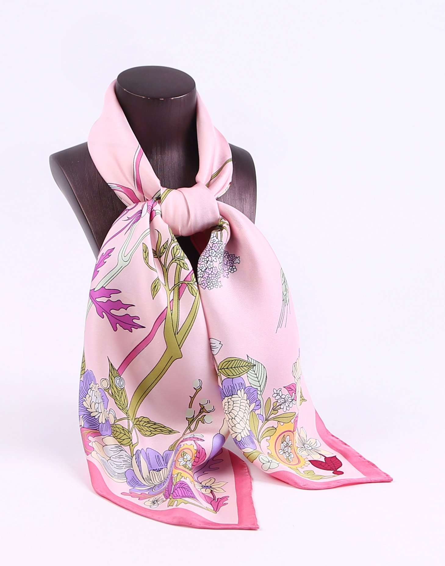 Jeelow 100% Pure Silk Scarf Scarves For Men & Women 36in Square Silk Twill Scarfs For Hair Gift Packaging by Jeelow (Image #7)