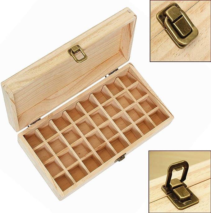 Almacenamiento de aceite esencial de la Caja de madera de las ...