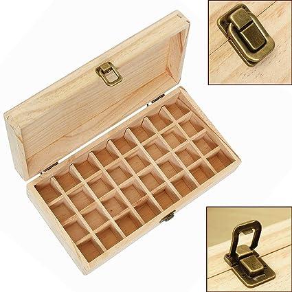 Almacenamiento de aceite esencial de la Caja de madera de las cajas de almacenamiento de 32