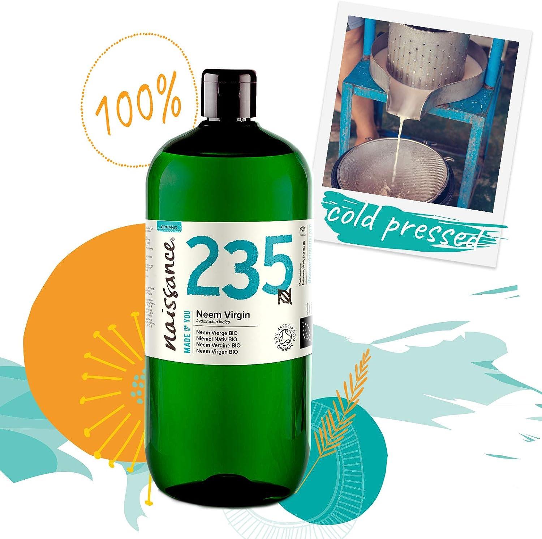 Naissance Aceite Vegetal de Neem Virgen BIO n. º 235 – 1 Litro ...