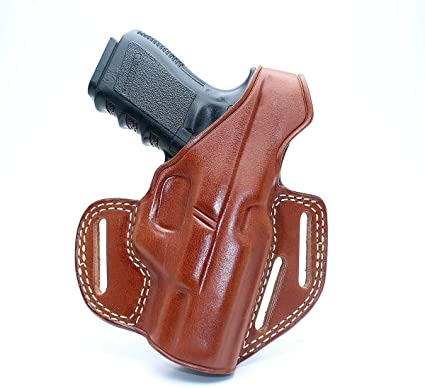 """TAGUA BROWN LEATHER OPEN TOP BELT HOLSTER PARA RUGER SIG SAUER 1911 4/"""" 4.25/"""""""