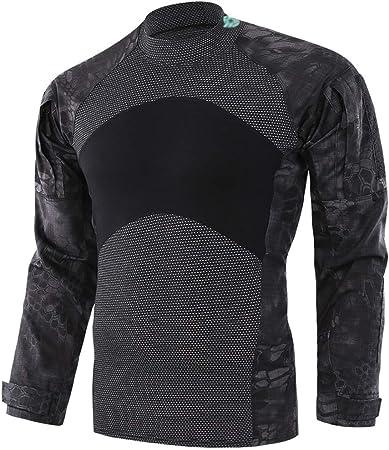 Cigong - Camisa de pesca deportiva de alpinismo de caza y camuflaje para hombre, manga larga de jersey transpirable: Amazon.es: Hogar