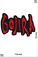 Patches - Gojira - red - Death-Metal-Band - MusicPatches - Rock - Vest - Iron on Patch - Applique embroidery Écusson brodé Costume Cadeau- Give Away