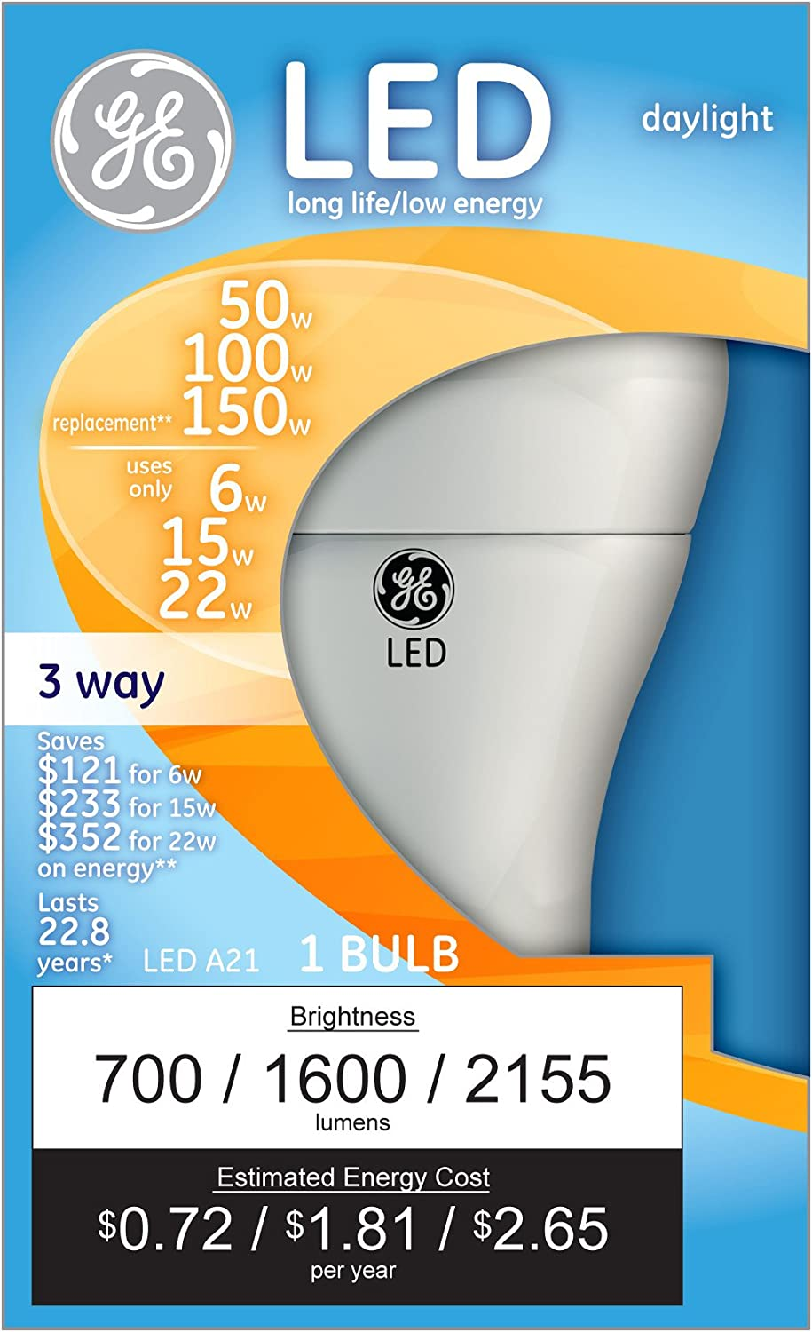 GE Lighting 3 Way LED Lights