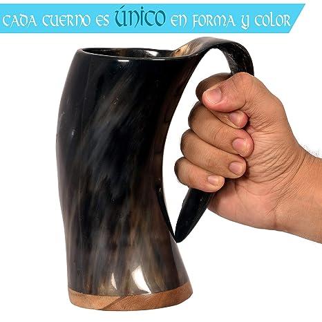 Divit Autentico Cuerno Vikingo Jarra - 24 oz. de Capacidad: Amazon.es: Hogar