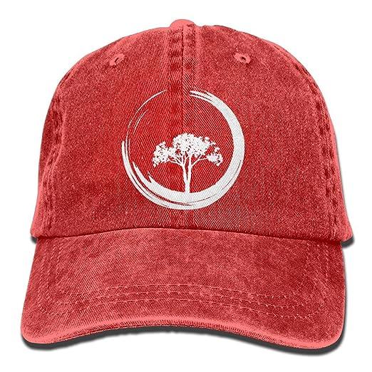 Men s Or Women s Tree And Zen Circle-1 Denim Fabric Baseball Hat ... 265abbc139