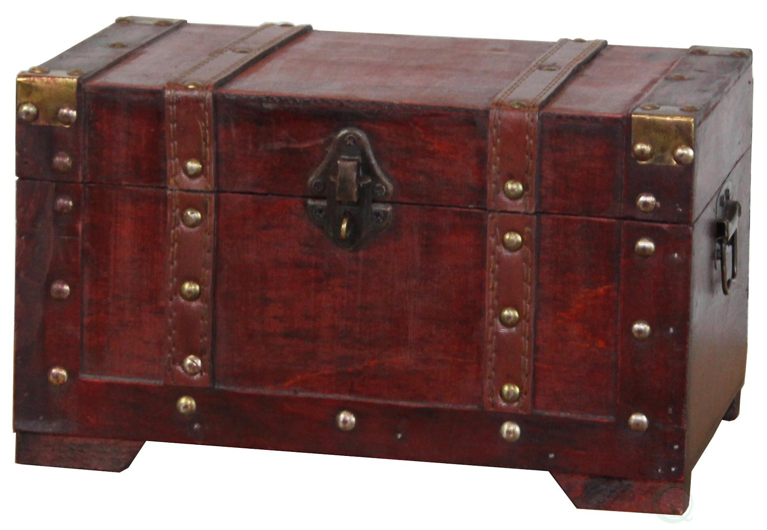 Vintiquewise(TM) Antique Style Wooden Trunk, Small by Vintiquewise