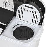 ZENSTYLE Portable Mini Twin Tub Washing machine