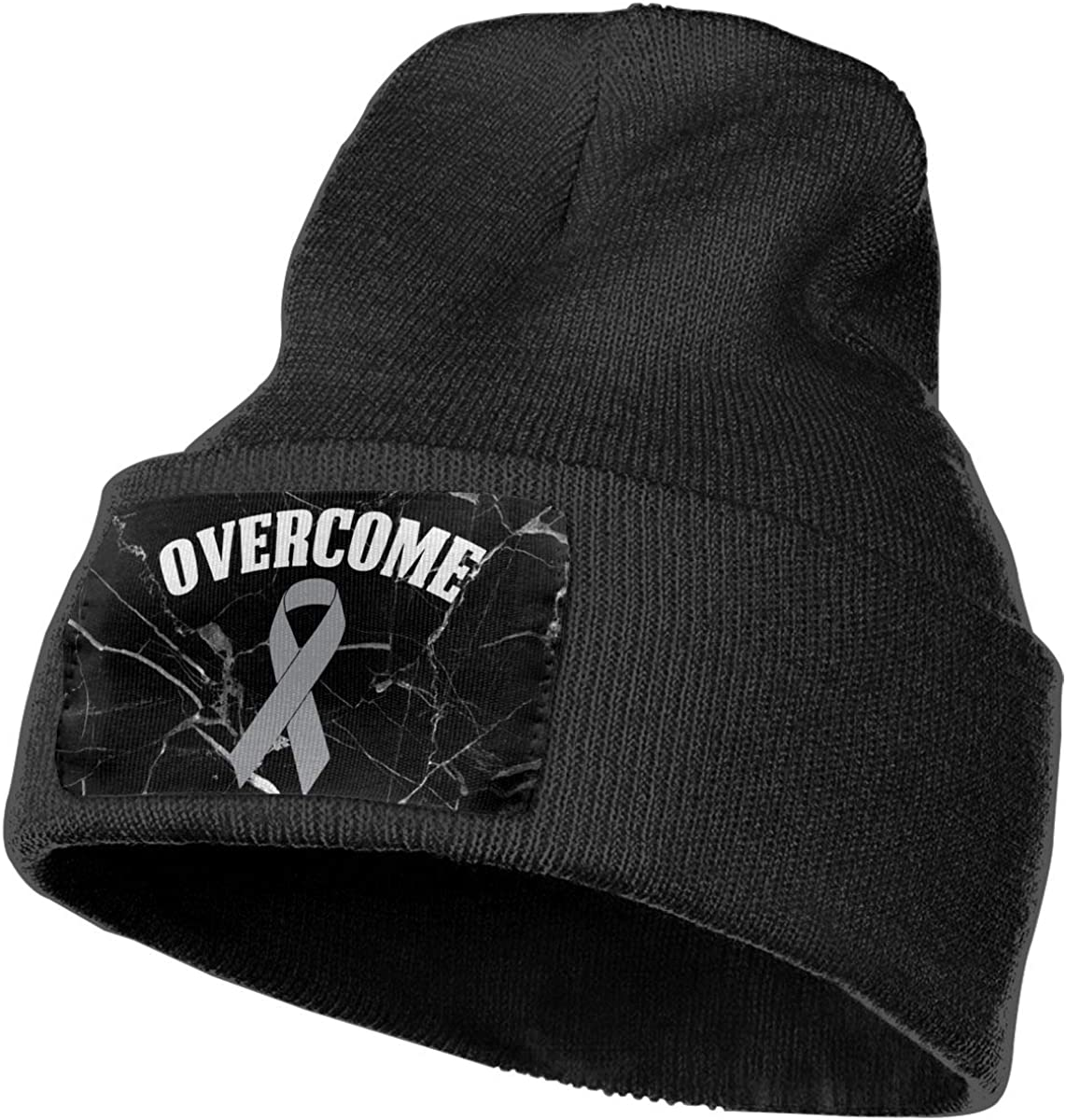 Overcome Brain Cancer Awareness Beanie Cap Hat Men Women Knitting Hats Stretchy /& Soft Beanie