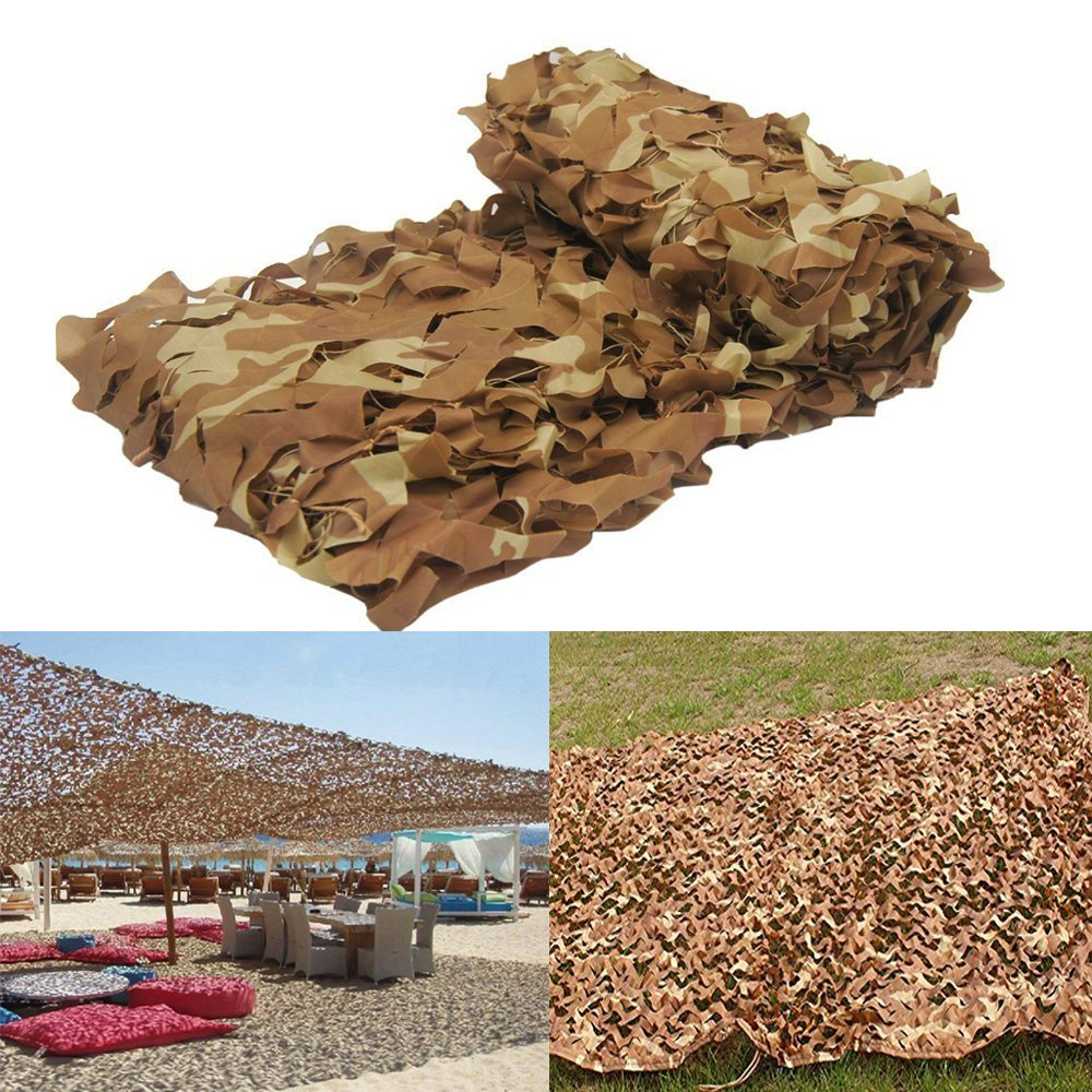 MIYA LTD 2Mx4M lightweight Desert Camouflage Netting Army Shooting for Camping Military Hunting Hide Fishing Shelter Hide Jungle Kids Play
