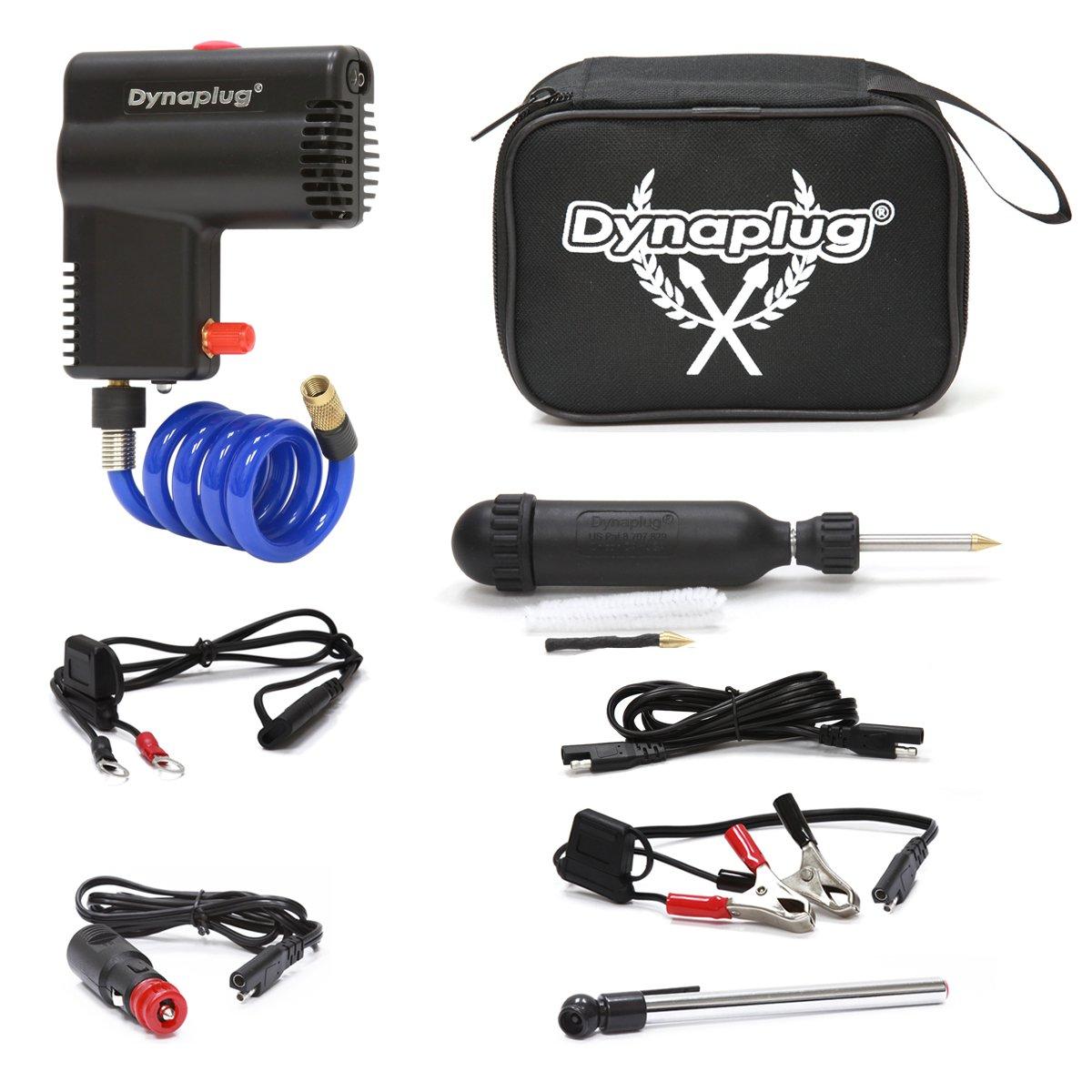 Dynaplug Motorcycle 12 volt Tire Inflator with BONUS Dynaplug Carbon Ultralite Repair Tool