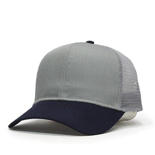 613d39118b5 2 Tone Plain Cotton Pro Style Twill Mesh Adjustable Snapback Trucker Baseball  Cap (Navy