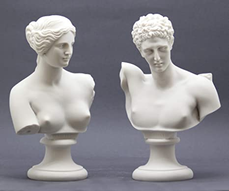 Amazon Com Set 2 Busts God Hermes Goddess Aphrodite Venus