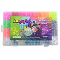 4200 Loopy Loom Band Set Box Rubber band Bracelet Making Kit Colourful with storage case