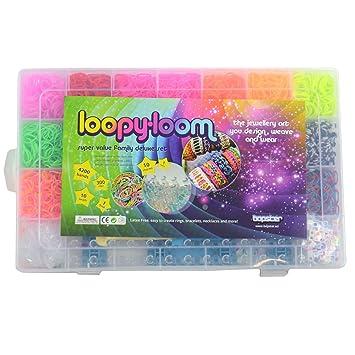89ee4e03ea2b Loopy Loom Kit con 4200 Bandas de Silicona Para Hacer Pulseras De Colores