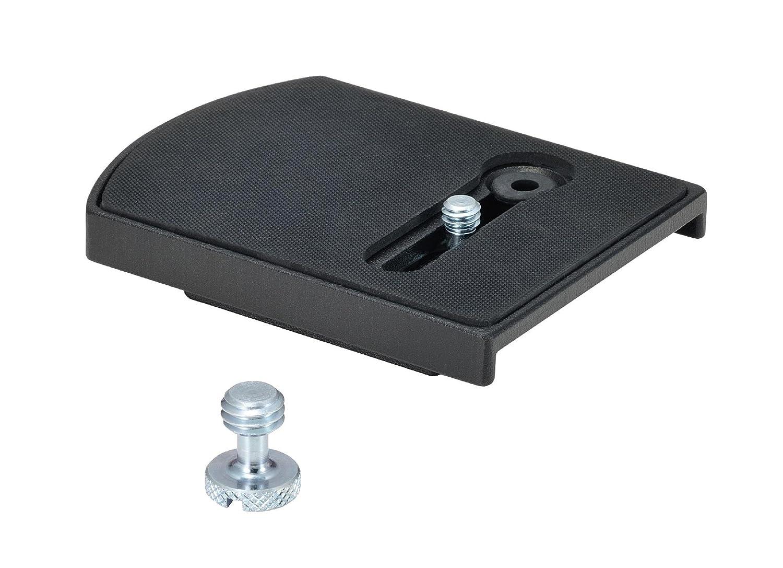 Negro Manfrotto 405 R/ótula de Cremallera para tr/ípode Zapata 410PL