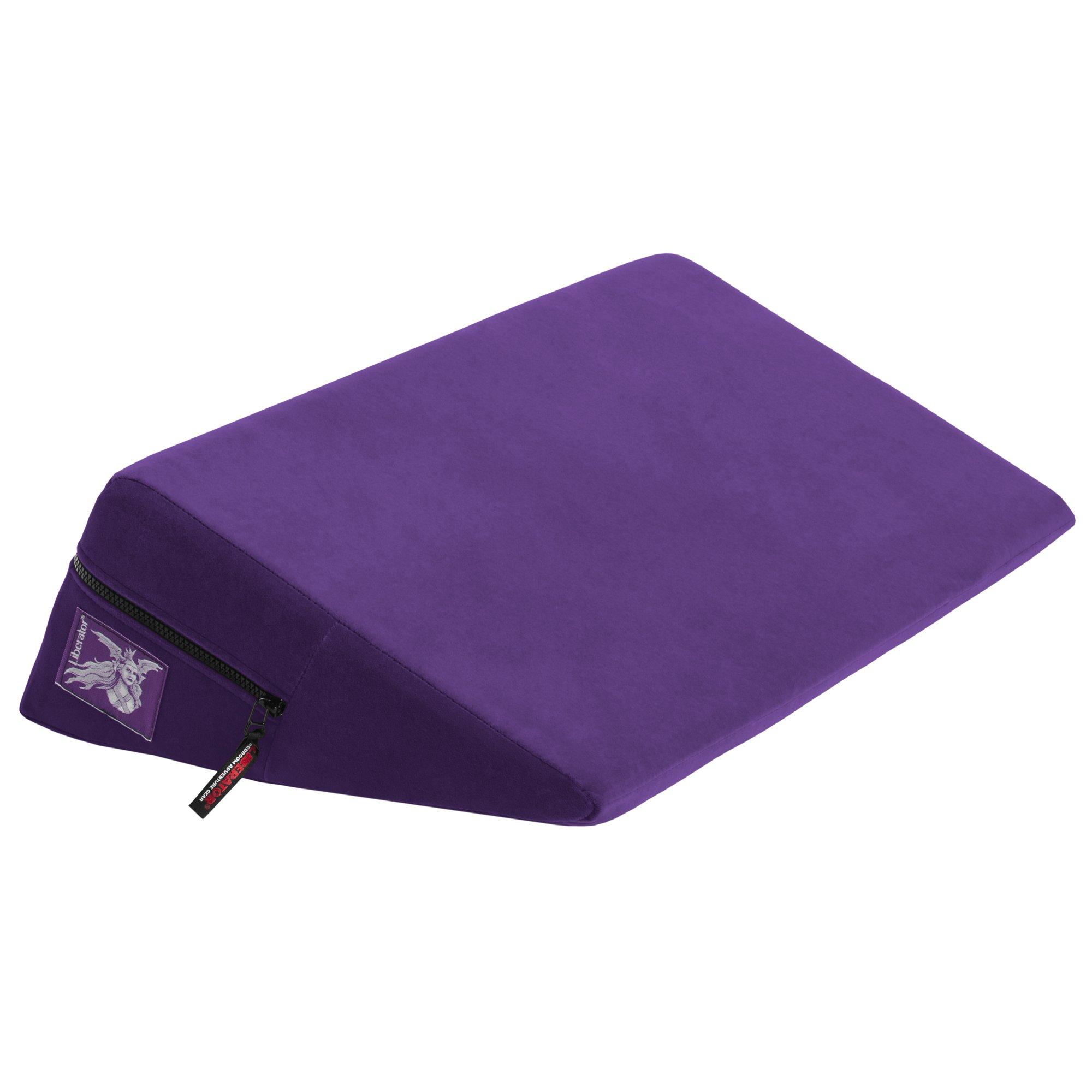 Wedge Plus Size, Purple Microfiber