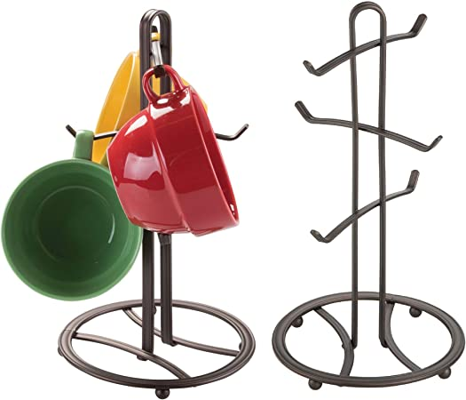 Metal Coffee Cup Holder Kitchen Coffee Mug Tree Countertop Tea Cups Holder Stand Black | Wish