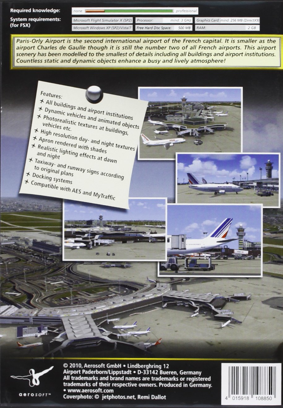 Mega Airport Paris-Orly - Add on for FSX (PC CD): Amazon co