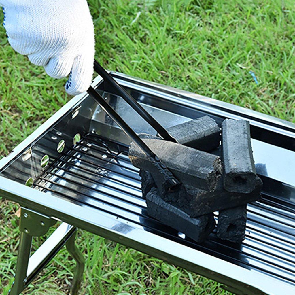 SimpleLife per Grill da Cucina e Barbecue-Barbecue Tong Carbone Manico in Metallo Grill Cibo Clip Strumento di Cottura Campeggio allaperto Nero