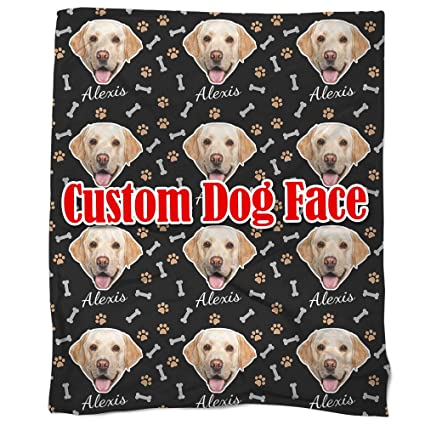 0619c2d0c2fe Image Unavailable. Image not available for. Color: Nictimeid Custom Blanket  Throw Print with Dog ...