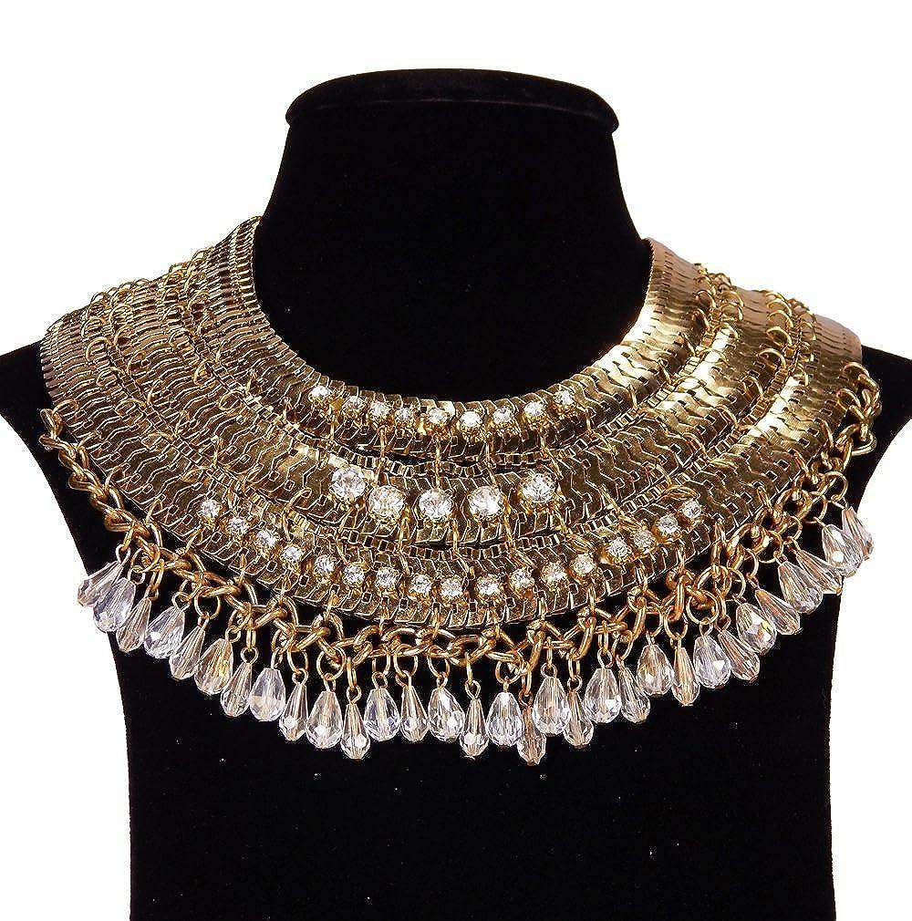 49286f0ff0ed4 Buy Modern Design Golden Multi Strand Transparent Beads and Stone ...