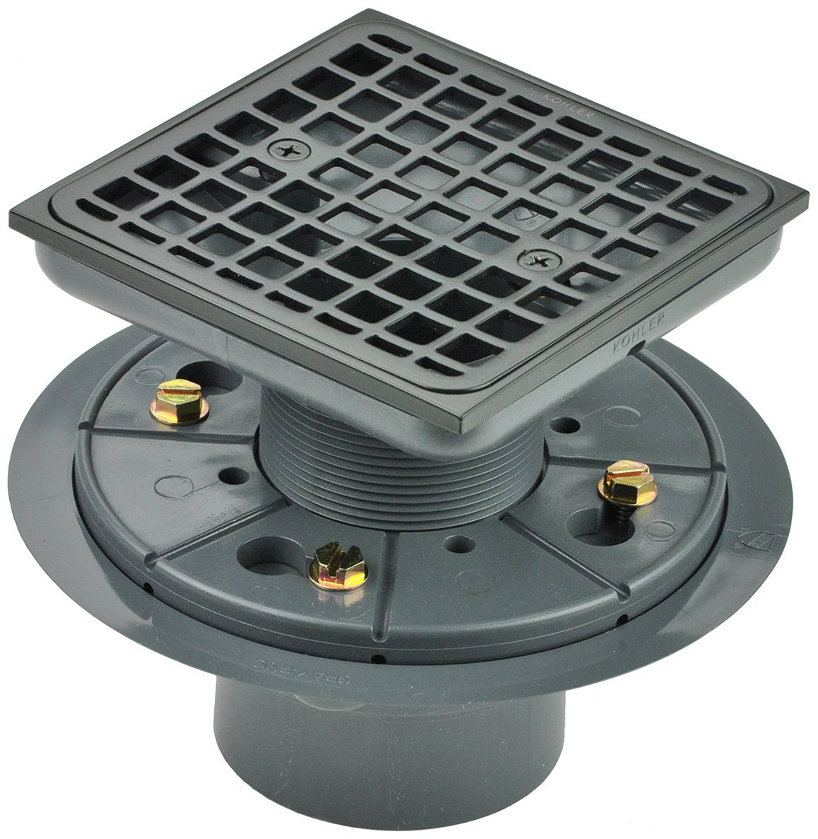 Kohler K-9136-2BZ Tile-In Square Shower Drain, Oil Rubbed Bronze
