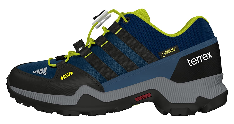 MultiCouleure - Noir Vert Lime (Acetec Negbas Limuni) 35 EU adidas Terrex GTX K, Chaussures de randonnée garçon
