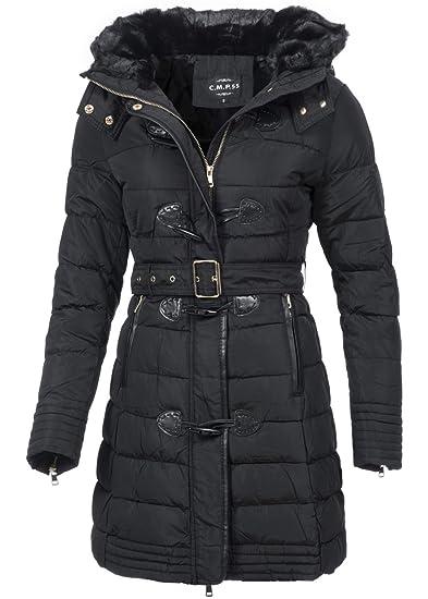 Damen parka mantel schwarz