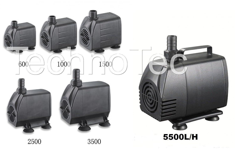 SuperAqua Submersible Pond/Fountain/Waterfall/Aquarium Water Pump - (120CM Power Cable)- (600 L/H)