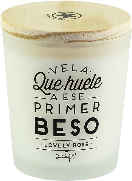Mr.Wonderful - Vela que huele a ese primer beso Lovely Rose: Amazon.es: Belleza