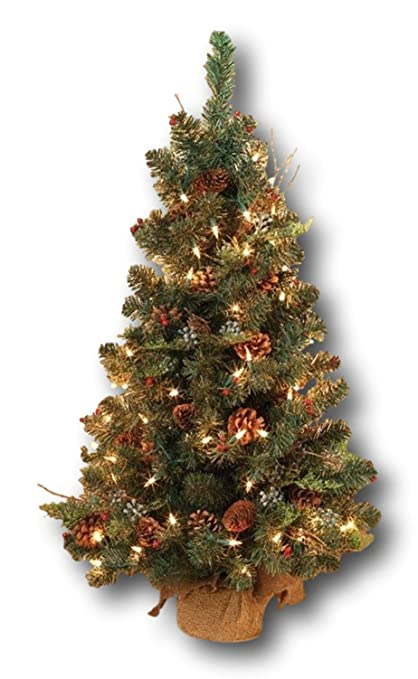 STERLING 2' Pre-lit Mixed Pine Cedar Christmas Tree White Lights not Battery  Operated - Amazon.com: STERLING 2' Pre-lit Mixed Pine Cedar Christmas Tree