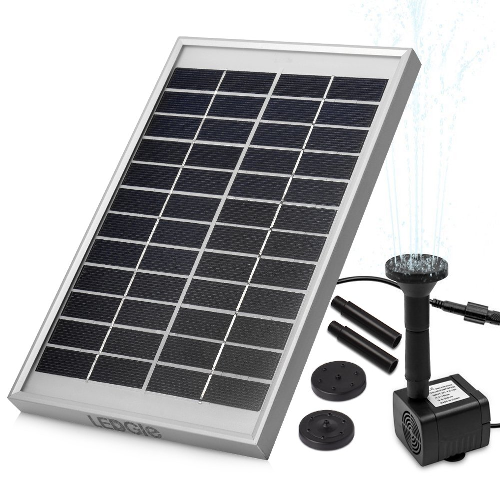 LEDGLE 5W Solar Fountain Pump