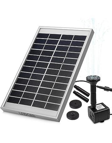 LEDGLE Solar Bombas para Fuentes,5W Bomba de Agua Solar, para el Jardín,
