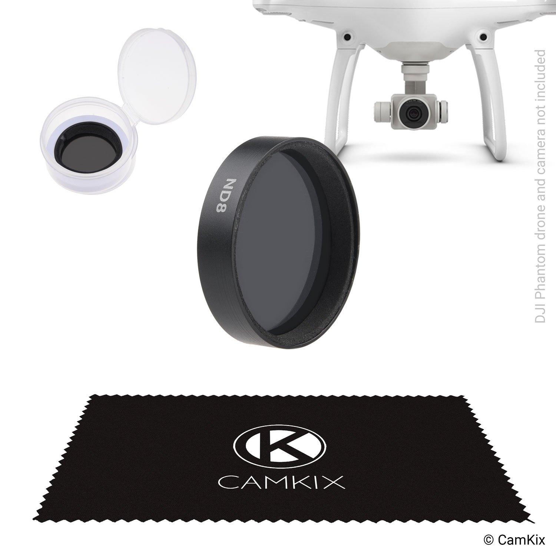 CamKix ND8 filtro a densità neutra Compatible con DJI Phantom 4 e 3 – Include Un CamKix Filtro (Filtro ND8), un contenitore e un panno di pulizia CamKix – Enhanced Video un contenitore e un panno di pulizia CamKix - Enhanced Video