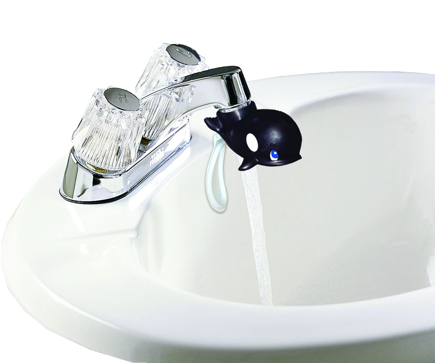 Jokari Faucet Drinking Fountain Makes Toothbrush Time Fun for All Ages Best Kids Water Dispenser One Step Installation Takes Seconds Whale Saves Mess /& Water 3 Pack
