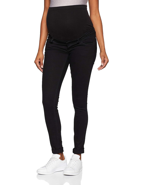 MAMALICIOUS Mllola Slim Black Jeans Noos A, Pantalones premamá para Mujer 20008774