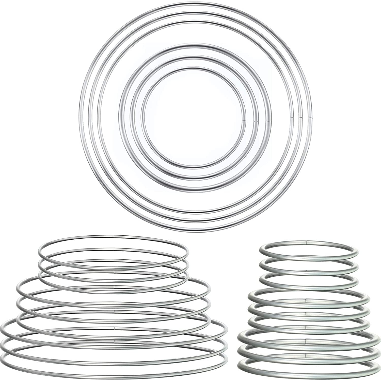 F Fityle 10pcs Welded Iron Metal Rings Macrame Hoop Loop Craft Golden