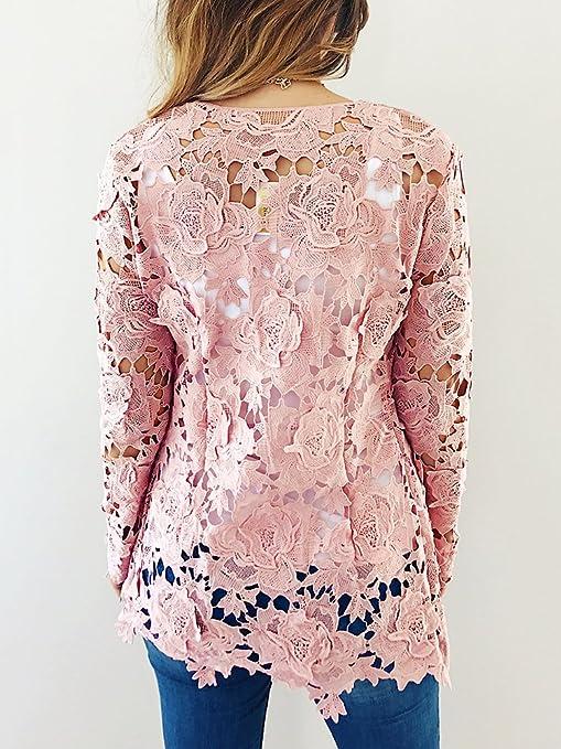 Amazon.com: Vintagerose de las mujeres encaje Crochet Floral ...