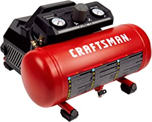 Craftsman Air Compressor, 1.5 Gallon 3/4 HP Max 135 PSI Pressure Portable Oil Free Maintenance Free, CMXECXA0200141A