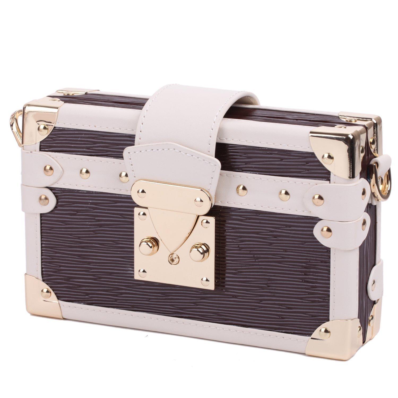 Rowling Large Jewellery Box Watch Bracelets Rings Earring Cufflinks Women Handbag (BROWN) by Rowling (Image #7)