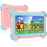 Kids Tablet, 7 Android Kids Tablet Kids Edition Tablet Childrens Tablet with WiFi Camera 1GB + 16GB Parental Control…>