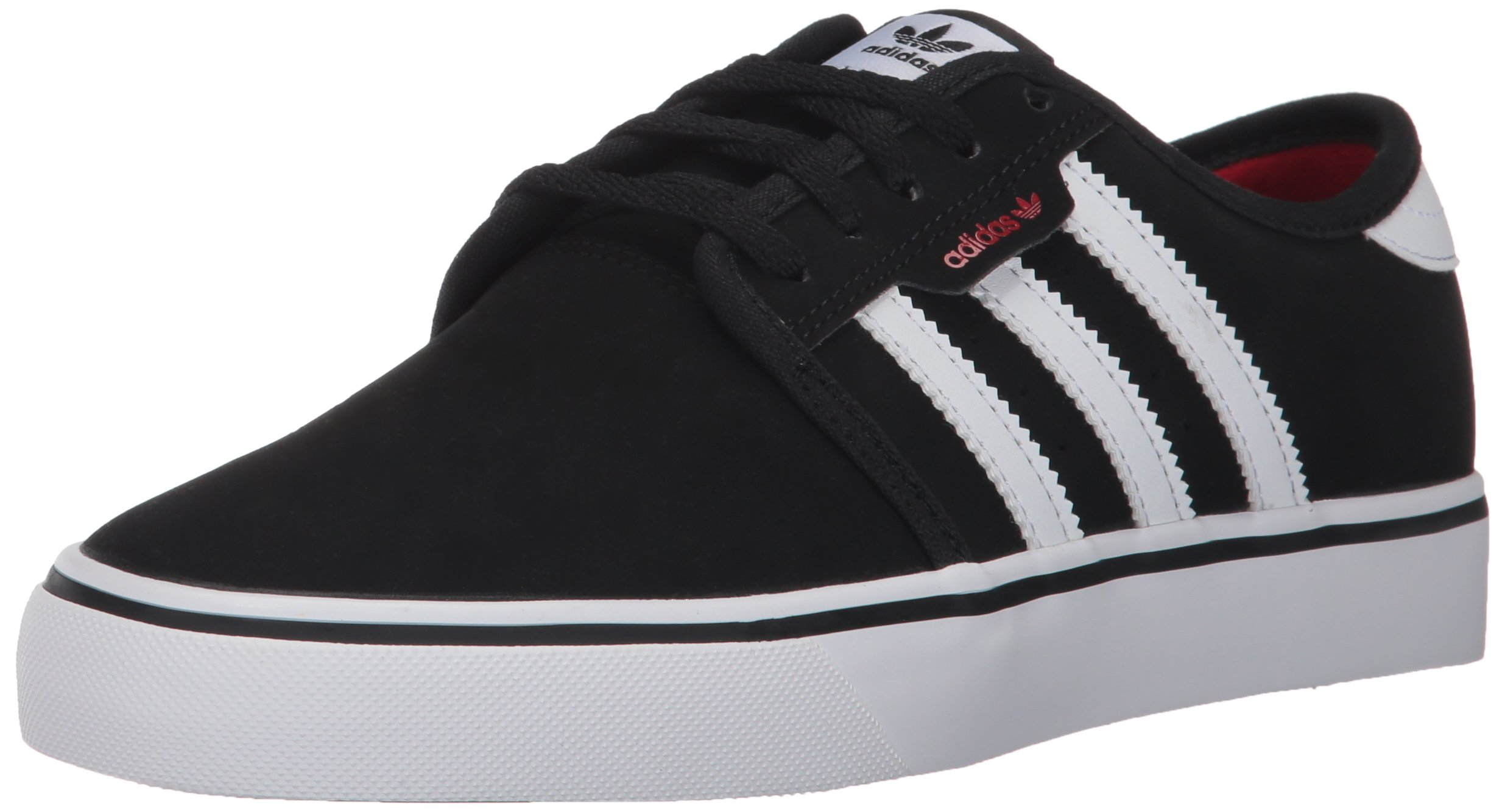 adidas Unisex Seeley J Skate Shoe, core Black, FTWR White, Scarlet, 11K M US Little Kid