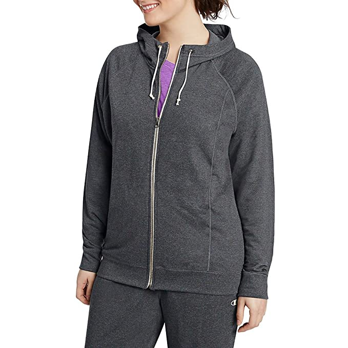 959f52ad551 Champion Women s Plus-Size French Terry Full Zip Jacket at Amazon Women s  Clothing store